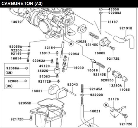 Yamaha Grizzly Carburetor Diagram on wiring diagram for yamaha 660 grizzly