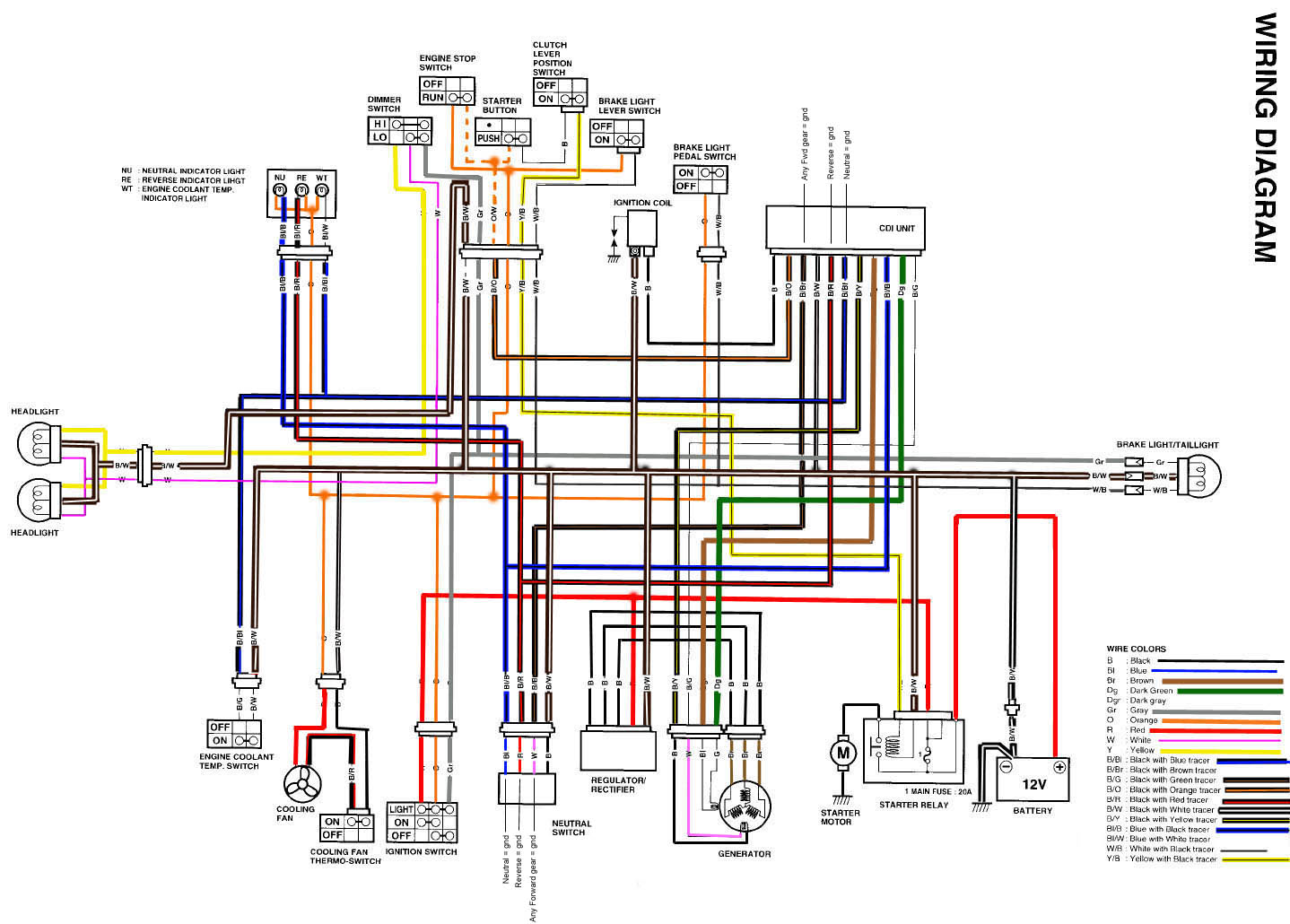 colored wire diagram - suzuki z400 forum : z400 forums yfz 450 wiring schematic #12